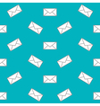 Mail envelope web icon Seamless pattern background vector image
