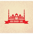 Sheikh Zayed Mosque Abu Dabhi UAE vector image