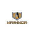 Spartan Warrior Helmet Shield Retro vector image
