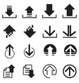 Upload DownLoad icons set vector image