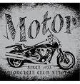 Motorcycle Racing Typography Graphics Old school b vector image