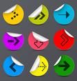 Arrows Set Paper Arrow in Colorful Circles vector image