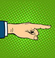 hand showing deaf-mute gesture human arm hold vector image
