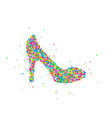 abstract female shoe vector image