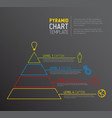 pyramid chart diagram template vector image
