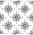 Seamless pattern of a vintage compass vector image