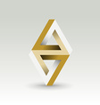 Imposible triangle vector image vector image