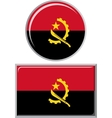 Angolan round and square icon flag vector image