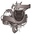 vintage emblem with shield vector image vector image