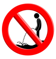 The sign ban vector image vector image