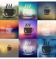 coffee icon on blurred background vector image