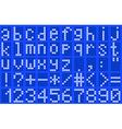 Alphabet lowercase blue vector image