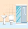 bathroom scene isolated icon vector image