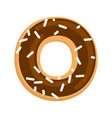 chocolate donut isolated cruller glaze and vector image