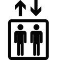 Elevator sign black icon vector image