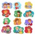 set of people social media vector image