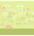 Springtime greeting vector image