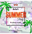 Summer party typographical shining template poster vector image