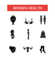 women health thin line icons linear vector image