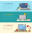 Workspace for freelancer vector image
