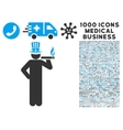 Capitalist Icon with 1000 Medical Business Symbols vector image