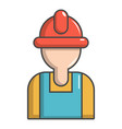 construction worker icon cartoon style vector image