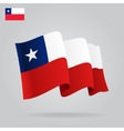 Flat and waving Chile Flag vector image vector image