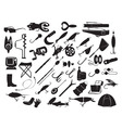 equipment for fishing vector image vector image