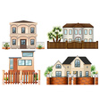 Different sytle of houses vector image