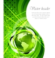 background with globes vector image vector image