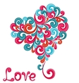 Abstract heart with swirls vector image