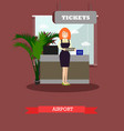 airport concept in flat style vector image