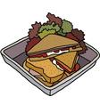 Club sandwich vector image