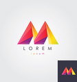 letter M design element for business vector image