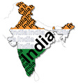Map of India 1 vector image