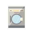 washing machine isolated icon in flat style vector image