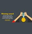 winning award banner horizontal concept vector image