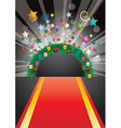 Red Carpet Background vector image