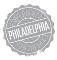 Philadelphia stamp rubber grunge vector image