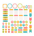 design elements for website template for vector image