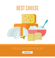 best cheese banner natural farm food vector image vector image
