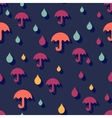 Seamless autumn background with umbrellas and rain vector image