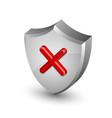Error notification shield icon vector image
