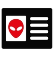 Alien Account Card Flat Icon vector image