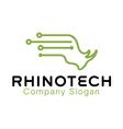 Rhino Tech Design vector image
