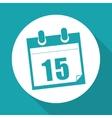 Calendar editable icon vector image