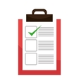Checklist or document icon with approval sign vector image