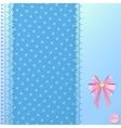 Blue postcard vector image