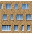 Brick facade pattern 2 color vector image