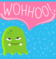 cute cartoon screaming monster with speech vector image